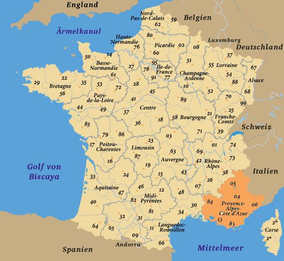 frankreich karte provence Frankreich Reisetipps und Informationen ueber alle Regionen, hier  frankreich karte provence